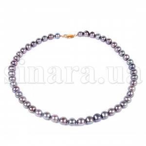 Ожерелье из черного морского жемчуга 9040ж