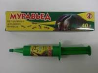 """Муравьед"" гель-шприц для уничтожения тараканов и муравьев 40 гр"