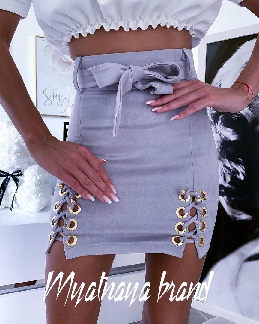 Замшевая юбка вм1094