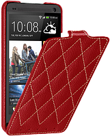 Чехол для HTC One M7 - Vetti Craft flip Diamond Series, красный