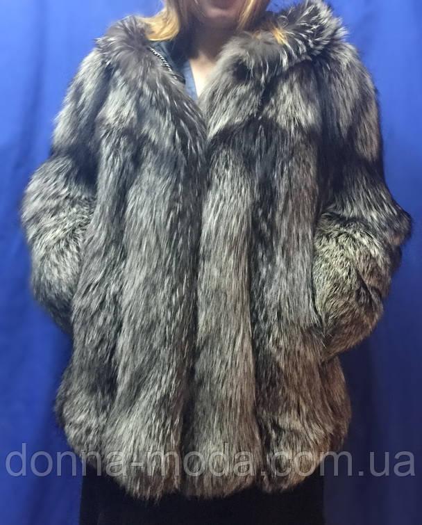 Шуба из меха чернобурки., фото 1