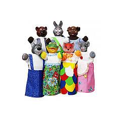 """Кукольный театр """"РУКАВИЧКА"""" (премиум упаковка, 7 персонажей) B153"""