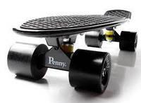 Penny board. Черный цвет. Матовые колеса.