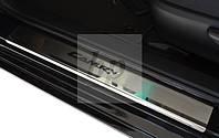 Защитные хром накладки на пороги Toyota Camry xv50 (Тойота Камри 50 кузов) 2011г+