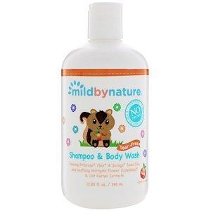 Детский шампунь, не вызывает слез, с запахом персика (380 мл) Mild By Nature