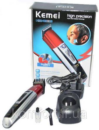 Машинка для стрижки волос и бороды с аккумулятором Kemei KM-1006, фото 2