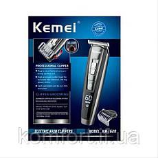 Машинка для стрижки волос и бороды с аккумулятором Kemei KM-1628, фото 3