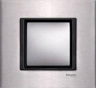 Рамка 1 пост. Unica Class серебристый алюминий MGU68.002.7A1, фото 1