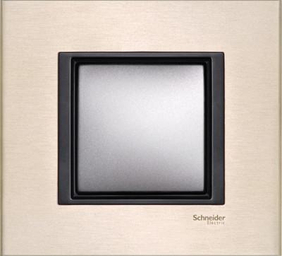 Рамка 1 пост. Unica Class лунный алюминий MGU68.002.7A2