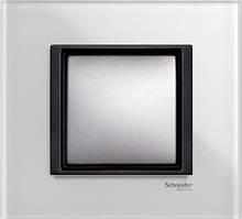 Рамка 1 пост. Unica Class белое стекло MGU68.002.7C2