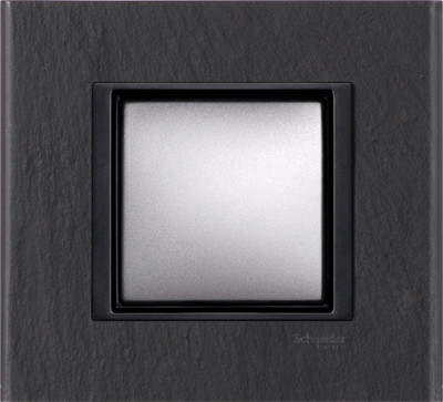 Рамка 1 пост. Unica Class чёрный камень MGU68.002.7Z1