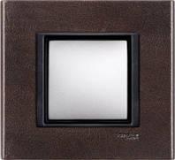 Рамка 1 пост. Unica Class кожа трюфель MGU68.002.7P2