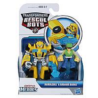 Боты спасатели, Playskool Heroes Transformers Rescue Bots Bumblebee and Graham Burns, фото 1