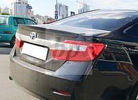 Lip Spoiler (лип спойлер багажника - сабля) Toyota Camry XV50 2011+ (Тойота Камри 50 кузов 2011г+)