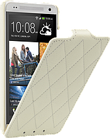 Чехол для HTC One mini M4 - Vetti Craft flip Diamond Series, белый