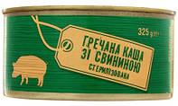 Без ТМ. Каша гречневая со свининой стерилизована 325г (4824034046058)