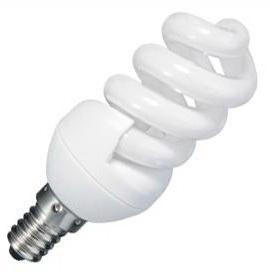 Лампа энергосберегающая Mini spiral E14 9Вт 2700K