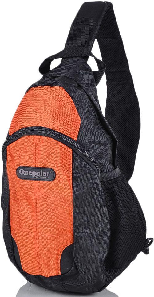 Рюкзак однолямочный Onepolar W1292-orange оранжевый 16 л — только качественная продукция от SuperSumka