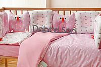 Сменное детское  постельное белье в кроватку (наволочка, пододеяльний, простынка), фото 1