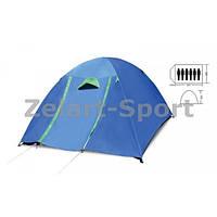 Палатка кемпинговая 6-и местная с тентом и коридором