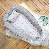 Позиционер - подушка с бортиками  для новорожденных, фото 2