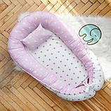 Позиционер - подушка с бортиками  для новорожденных, фото 3