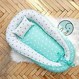 Позиционер - подушка с бортиками  для новорожденных, фото 4