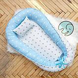 Позиционер - подушка с бортиками  для новорожденных, фото 5