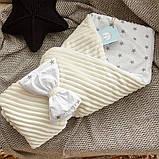 Конверт ковдру осінь-весна 98х78 см для новонароджених Stripse, фото 4