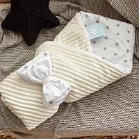 Красивый демисезонный  конверт - одеяло 98х78 см  для новорожденных, фото 1
