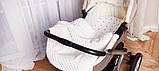 Красивый демисезонный  конверт - одеяло 98х78 см  для новорожденных, фото 3