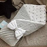 Красивый демисезонный  конверт - одеяло 98х78 см  для новорожденных, фото 4