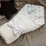 Красивый демисезонный  конверт - одеяло 98х78 см  для новорожденных, фото 5