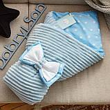 Красивый демисезонный  конверт - одеяло 98х78 см  для новорожденных, фото 6