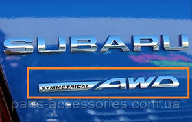 Subaru Impreza Эмблема надпись Symmetrical AWD новая оригинал