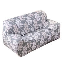 Чехол на диван натяжной 2х/3х местный Stenson R26304 145-185 см White Grey