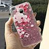 Чехол Glitter для Xiaomi Redmi 4x / 4х Pro Бампер Жидкий блеск Sakura