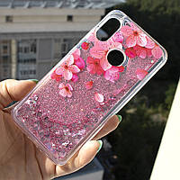 Чехол Glitter для Xiaomi Mi A2 Lite / Redmi 6 Pro Бампер Жидкий блеск Sakura, фото 1