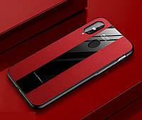 Чехол Line для Xiaomi Redmi Note 7 / Note 7 Pro бампер накладка Auto-Focus Красный, фото 1