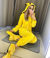 Взрослый кигуруми покемон желтый  (пикачу) lk0013