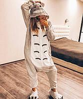 Взрослая пижама кигуруми Тоторо серый lk0019