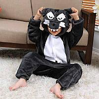 Детская пижама кигуруми серый волк lk0041