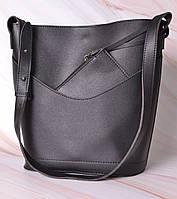 Женская сумка-тоут через плечо с кошельком Neko black