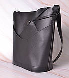 Женская сумка-тоут через плечо с кошельком Neko black, фото 3
