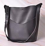 Женская сумка-тоут через плечо с кошельком Neko black, фото 5