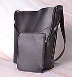Женская сумка-тоут через плечо с кошельком Neko black, фото 6