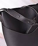 Женская сумка-тоут через плечо с кошельком Neko black, фото 8