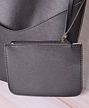 Женская сумка-тоут через плечо с кошельком Neko black, фото 9