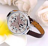 Наручний годинник з метеликом Fly brown, фото 2