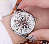 Наручний годинник з метеликом Fly brown, фото 3